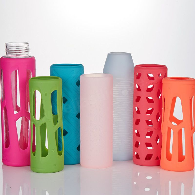 Anti Slip Water Bottle Silicone Sleeves