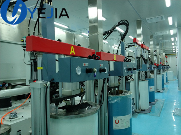 Injection silicone operation process